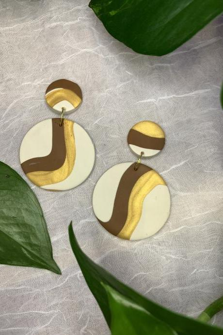 the ayu earrings. cute statement dangle polymer clay earrings.
