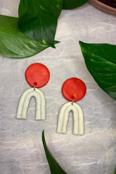 the pippa earrings. Cute statement polymer clay bold dangle earrings