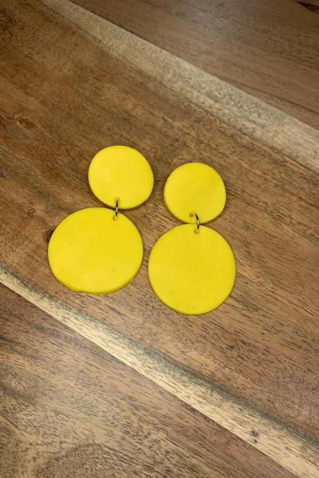 the lena earrings. cute statement bright dangle polymer clay earrings