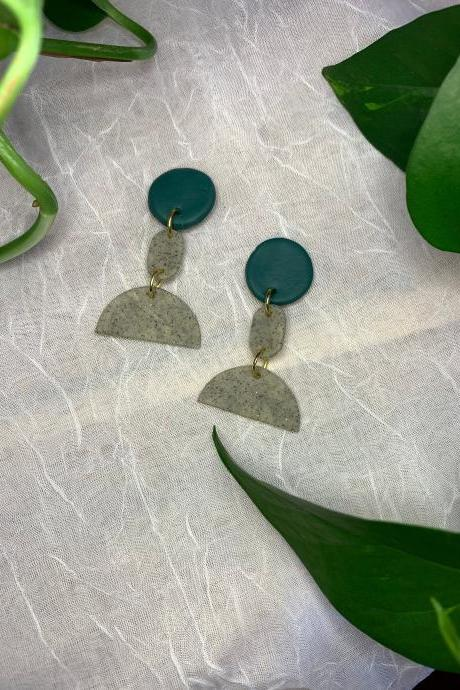 the talia earrings. cute statement dangle polymer clay earrings