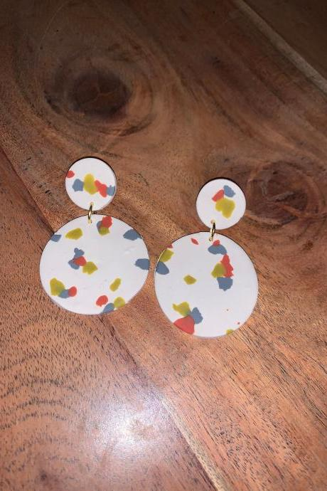 the emma earrings. big spring spring polymer clay earrings